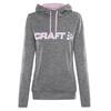 Craft Logo hoody Dames wit